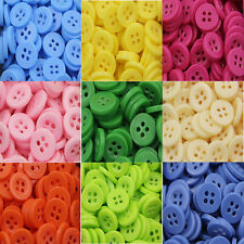 DIY Resin 4 Hole Round Buttons Mix Sewing Scrapbooking 11mm-25mm 10pcs-100Pcs