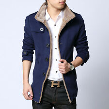 NEW Mens Coats wool peacoat Slim fit Autumn Fleece Jackets parka Outwear Clothes