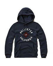Nwt Hollister By Abercrombie & Fitch Men's Pullover Hoodie Navy 2016 New
