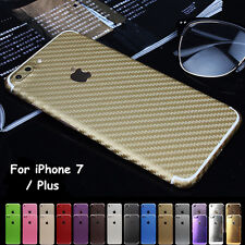 Full Body Carbon Fiber Wrap Decal Sticker Case Cover Skin For iPhone 7/ Plus Lot