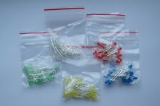5mm LED'S Pack OF 100 20x Each of Red, Blue, Green, Yellow, White UK Seller
