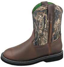Smoky Mountain Boots Youth Boys Hickory Brown Faux Leather Cowboy Camo