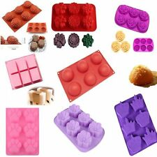 Cake Soap Mold Mould 3D Silicone Flower Ice Cube Chocolate DIY Cupcake Candy New