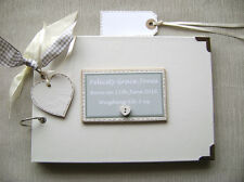 PERSONALISED NEW BABY/CHRISTENING.. A5 SIZE PHOTO ALBUM/SCRAPBOOK/MEMORY BOOK.