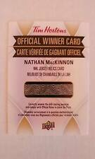 Nathan MacKinnon 2016-17 Tim Hortons NHL Jersey Relic Game Jersey Rare 1:1800
