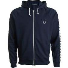 Fred Perry Taped Hooded Track Jacket Carbon Blue