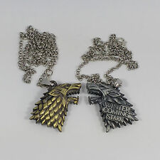 Game Of Thrones House Stark Dire Wolf Necklace - UK Stock