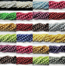 New Lots 100Pcs Quality Charms Czech Glass Pearl Round Spacer Loose Beads 4-10mm