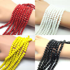 Wholesale 4/6/8/10mm Faceted Crystal Glass Loose Beads Jewelry Free Shipping