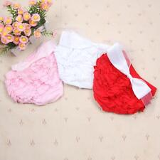 Toddler Baby Girls Solid Ruffle PP Pants Bloomers Nappy Cover Brief 1-3Y