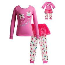 Dollie Me Girl 4-14 and Doll Matching Ballerina Tutu Pajama Outfit American Girl