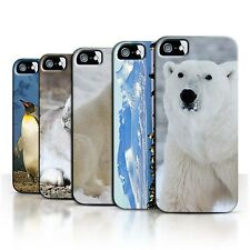 STUFF4 Back Case/Cover/Skin for Apple iPhone SE/Arctic Animals