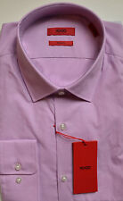 NWT HUGO Red Label By Hugo Boss Sharp Fit Long Sleeve Micro Checked Dress Shirt