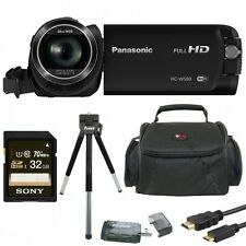 Panasonic HC-W580K Full HD 1080p Camcorder with Twin Camera & 32GB SD Card Bundl