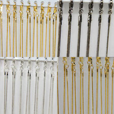 "Hot Sale 5Pcs Gold/Silver Plated 1.2mm Snake Chain Necklace 17"" Finding Jewelry"