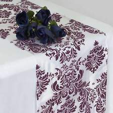 10 Pack Flocking Damask Table Runners Wedding Party Decoration 5+ Colors!