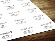 Personalized Hand Made With Love Return Address Labels / Stickers on A4 Sheets