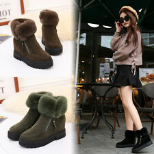 NEW Women's Winter Snow Boots Suede Shoes Plush Warm Moccasins Fashion Comfort