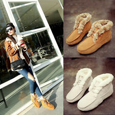 NEW Women's Winter Snow Boots Suede Shoes Warm Moccasins Fashion Comfort Oxfords