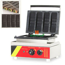 Commercial Non-stick 110V 220V Electric 4-slice Waffle Press Maker Iron Machine