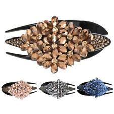 Fashion Elegant Hair Clip Crystal Rose Barrette Hairpin Updo Casual Hair Style