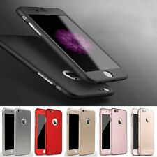 Hybrid 360° Shockproof Full Protective Case+Tempered Glass Cover 4 Apple iPhone