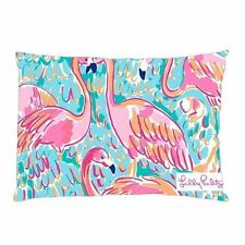 """LILLY PULITZER CUTE Zippered Pillow Case 20""""x30""""/16""""X24"""" one side/two side"""