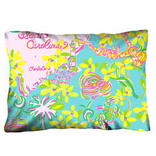 """LILLY PULITZER SOUTH CAROLINA 20""""x30"""" ,16""""X24"""" one size/two size Pillow Case"""