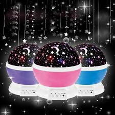 Romantic LED Night Light Auto-Rotating Cosmos Star Sky Moon Projector Baby Lamp