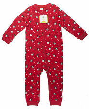 Girls Sleepsuit Disney Minnie Mouse Toddler Hearts Print Tiny Baby - 24 Months