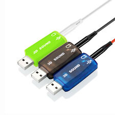 USB Headphone Adapter Audio Adapter 3D Sound Card 5.1 USB To 3.5mm USB Adapter