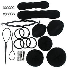 Magic Hair Styling Tool Kit Pads Foam Sponge Hairpins Bun Donut Accessories Sets