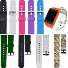 Silicone Bracelet Strap Classic Buckle For Pebble/Samsung/LG G/MOTO 360 2nd #BD