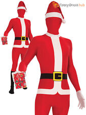 Mens Santa Claus Costume Adults Father Christmas Fancy Dress Novelty Xmas Outfit