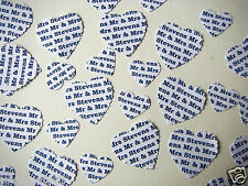 PERSONALISED Wedding CONFETTI  YOUR NAMES in a PLAIN FONT White Ivory or Cream