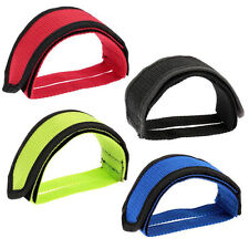 1x Fixed Gear Bike Bicycle Antislip Double Adhesive Pedal Toe Clip Strap Belt