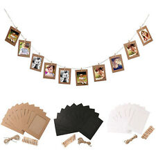 DIY Hanging Frame Album Rope Clip 10 pcs Paper Photo Wall Picture Set Home Decor