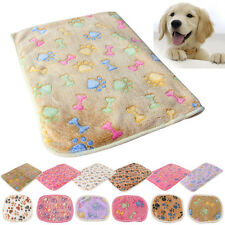 Cat Dog Puppy Pet Small Large Paw Print Coral cashmere Soft Blanket Bed Cushion