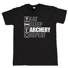 Eat Sleep Archery Repeat, Mens Funny Archery T Shirt, Birthday Gift Dad