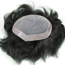 Majik Toupee Mens Hairpiece Pu Basement Wig Human Remy Hair Replacement Systems