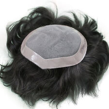 Majik THIN SKIN SUPER SOFT PU MEN HUMAN HAIR TOUPEE HAIRPIECE REPLACEMENT.!