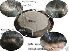 Majik full swiss lace 100% real  human hair replacement system men's toupee...