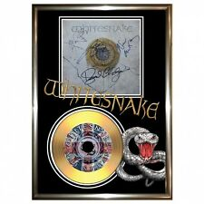 WHITESNAKE - SIGNED FRAMED GOLD VINYL RECORD CD & PHOTO DISPLAY. Delivery is Fre