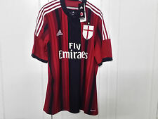 Adidas 2014-15 Official AC Milan Home Soccer Jersey