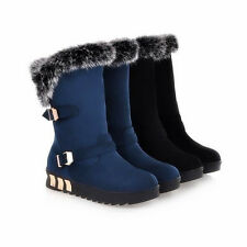 Winter Women's Snow Boots Outdoor Warm Suede Shoes Fashion Plush Moccasins