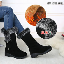 NEW Women's Winter Snow Boots Outdoor Warm Suede Shoes Heighten Plush Moccasins
