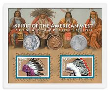 American Coin Treasures Spirit of The American West Coin and Stamp Collection. B