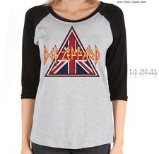 Def Leppard T-shirt/Throwback,80's Tee,MTV,British,Metal,Rock Baseball Rock Tee