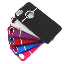 For iPhone 5 5s SE Deluxe Chrome Rubberized Snap-On Hard Back Case Cover