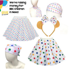 Adult or Childs Fancy Dress CHILDREN IN NEED Polka Dot Pudsey SKIRT Accessories